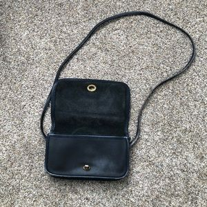 Vintage Coach Dark Grey Dinky Bag